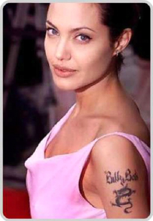 Angelina Jolie And Her Tattoos