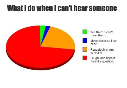 What I Do When I Can't Hear Someone-Hilarious Relatable Graphs
