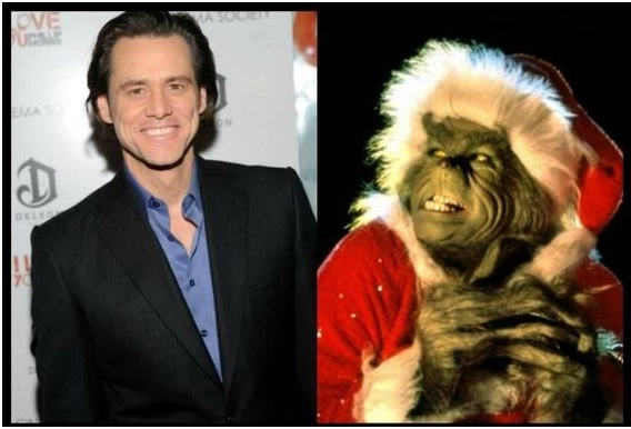 Jim Carrey as The Grinch-Celebrities From One Movie Role To Another