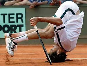 Playing tennis-Clumsy People Unable To Do Simple Things