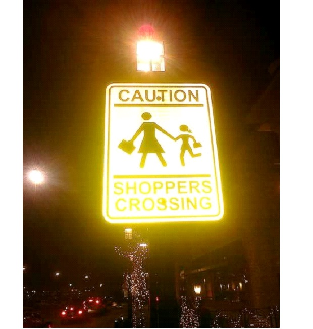 Crossing Sign-Unbelievable Sexist Signs
