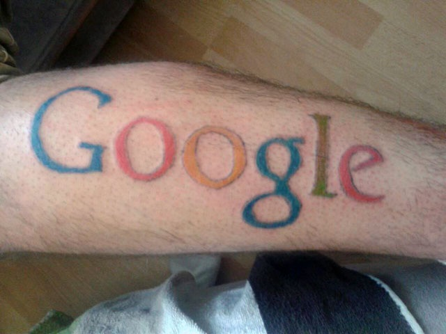 Google-Disgusting Advertisement Tattoos