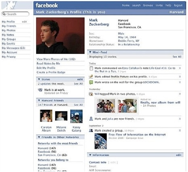 Mini-Feed-12 Pictures That Show Facebook Design Changes Over The Years