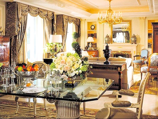 Four Seasons Hotel George V, Paris - Royal Suite - $24,550-Most Expensive Honeymoon Destinations In The World