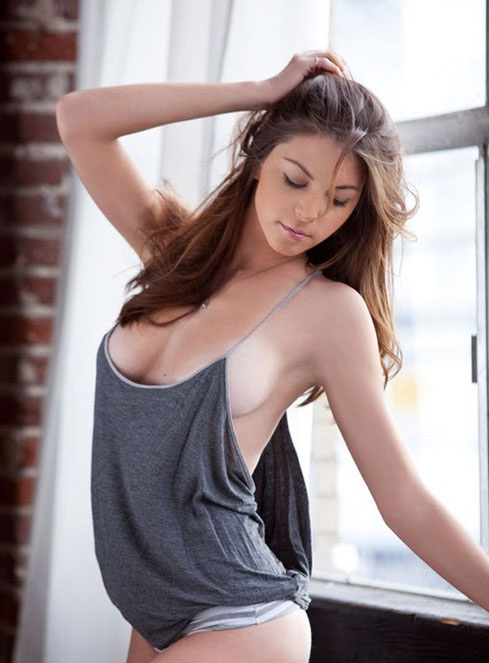Sexy girl in tank top