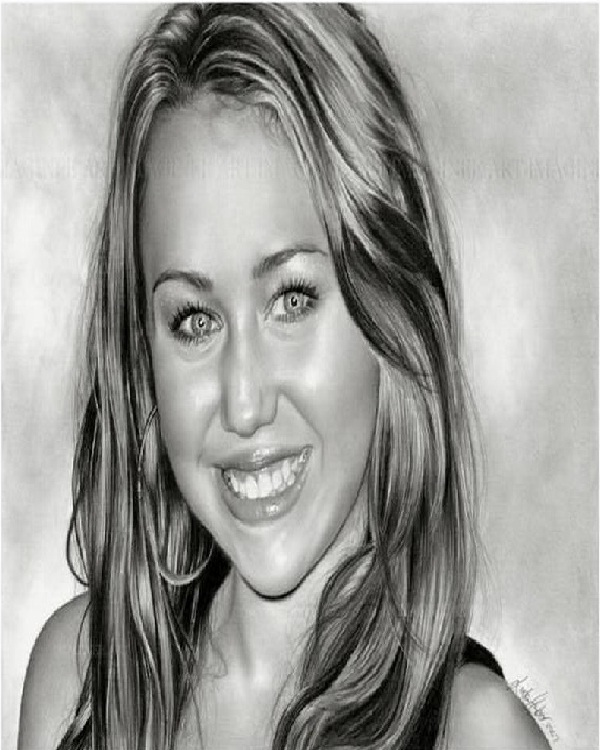 Young Miley Cyrus-Mind Blowing Pencil Art