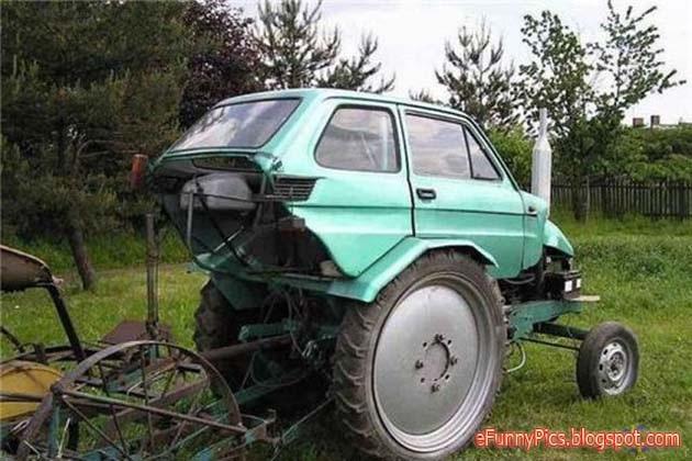A tractocar-Car Modification Fails