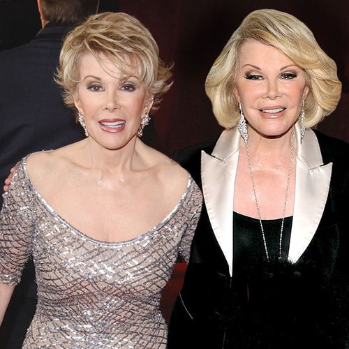 Joan Rivers-15 Celebrities Posing With Younger Versions Of Themselves