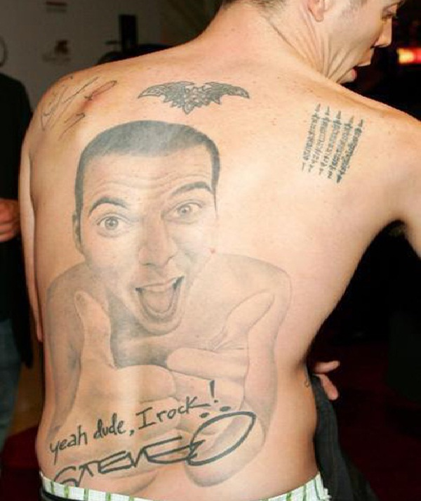 Steve O-Worst Back Tattoos