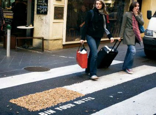 Bin Your Butts-Most Creative Street Ads