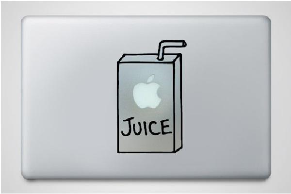 Apple Juice-Funny MacBook Stickers