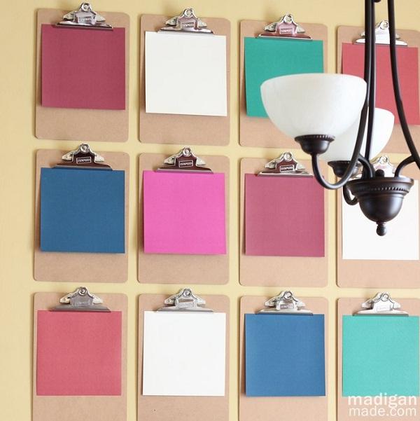 Clipboards-Creative DIY Wall Decor