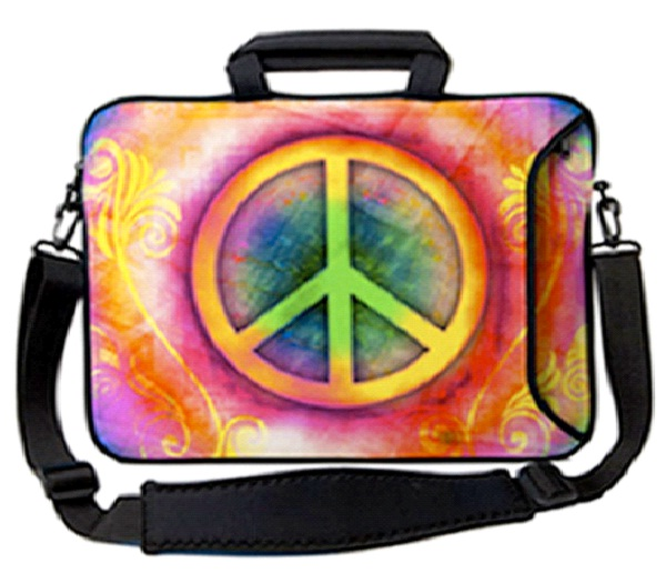 Peace Hippie-Coolest Laptop Sleeves And Bags