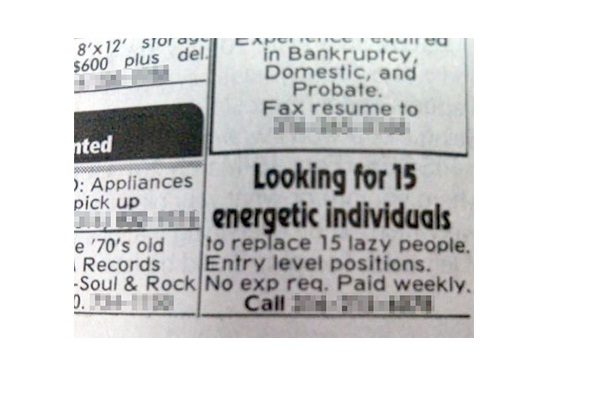 An honest ad-Hilarious Help Wanted Ads