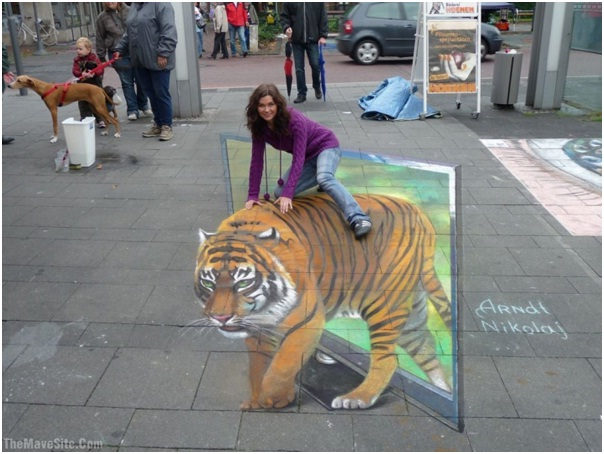 Ride The Tiger-Amazing 3D Street Art