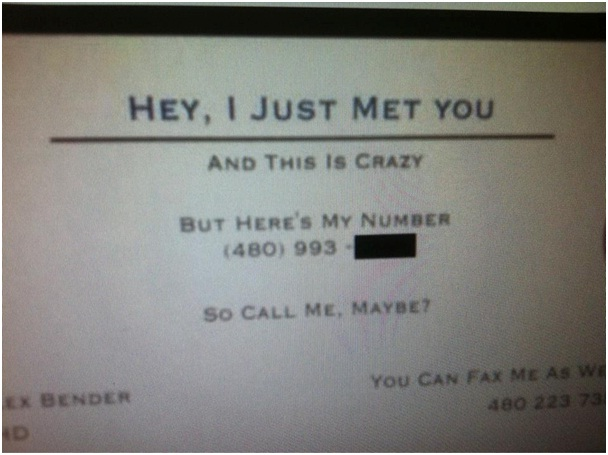 Call Me, Maybe? Business Card-Funniest Business Cards