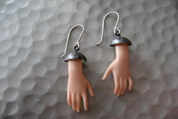 Hands on your ears-Weirdest Earrings Ever