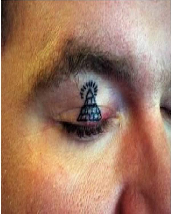 Pyramid-Weirdest Eyelid Tattoos