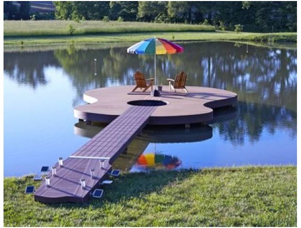 Guitar-Shaped Deck-Surprising And Unusual Things Shaped Like A Guitar