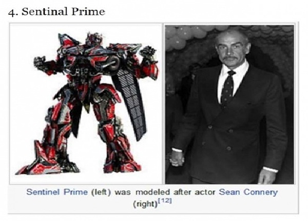 Sean Connery And Sentinel Prime-12 Most Ridiculous Wikipedia Picture Captions