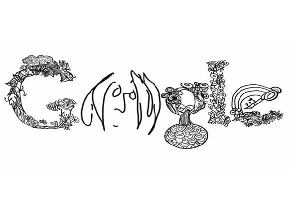 John Lennon Google Doodle-Amazing Google Doodles
