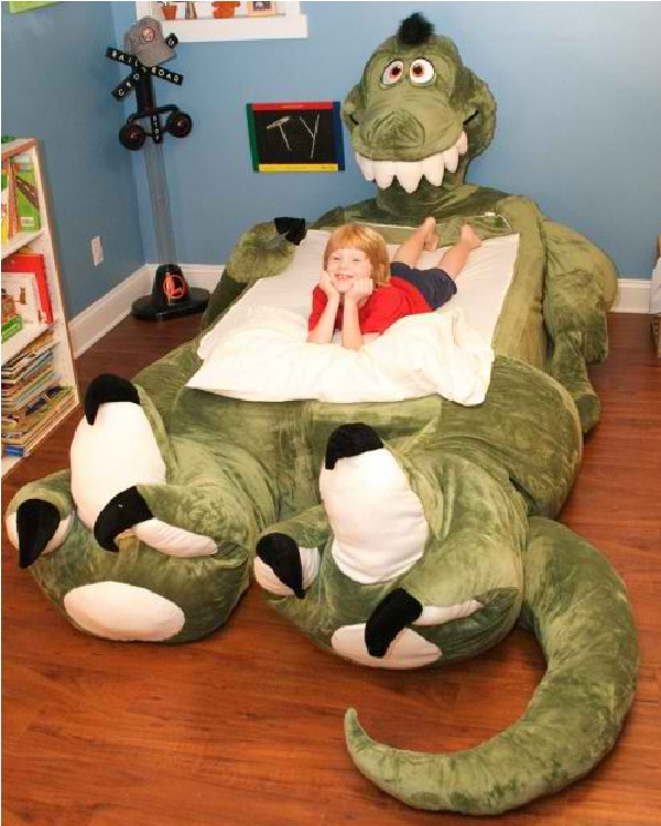 Dinosaur bed-Weird Bedroom Furniture