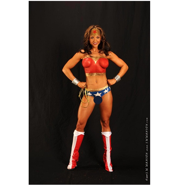 Wonder Woman Superhero Body Painting