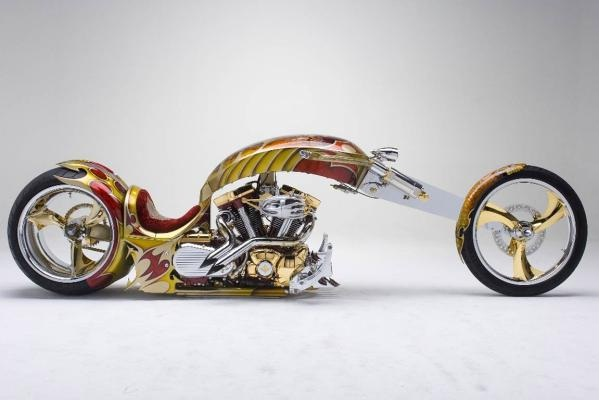 Gold plated custom chopper-Most Expensive Bikes In The World