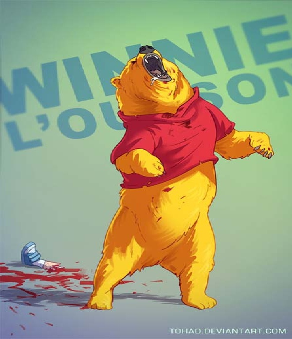 Winnie the Pooh-Bad Versions Of Popular Cartoon Characters