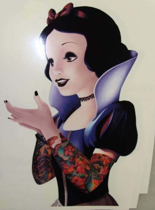Snow White-Disney Characters In Punk Look