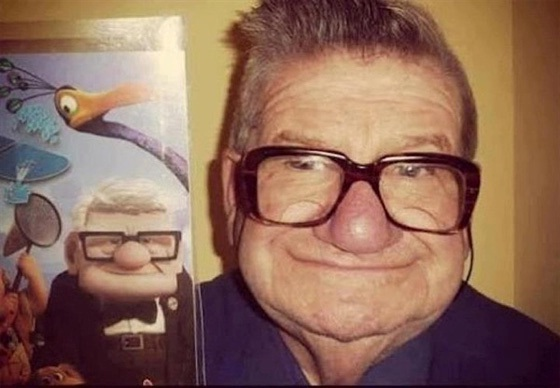 The glasses really help-Cartoon Characters & Their Real Life Counterparts