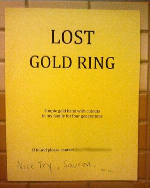 One Ring To Rule Them All-12 Smart And Witty Replies To Written Notes