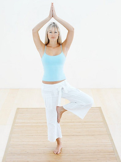Tree pose-Simple Yoga Poses To Lose Weight
