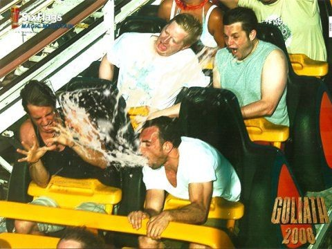 Projective Vomit-Hilarious Roller Coaster Moments