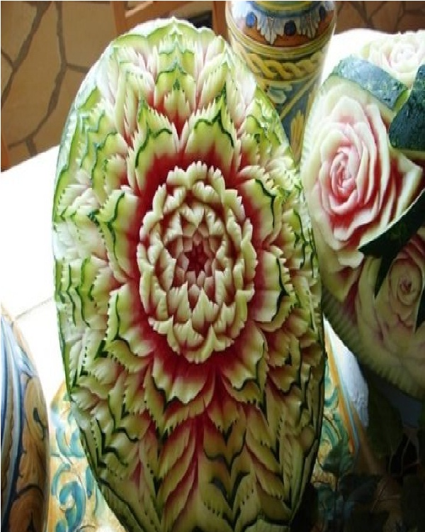 Blossoming Flower Watermelon-Amazing Watermelon Art