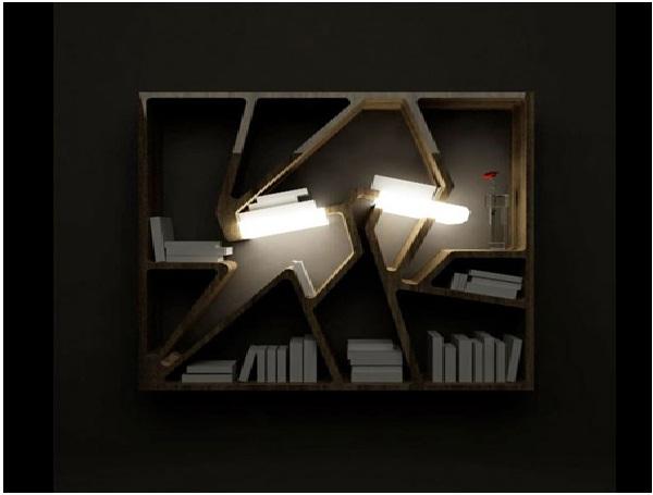 Shelf with Light-Coolest Bookshelves