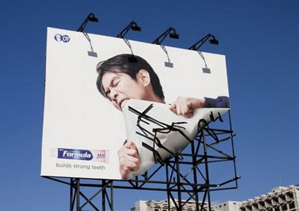 Strong teeth-Brilliantly Clever Billboard Ads