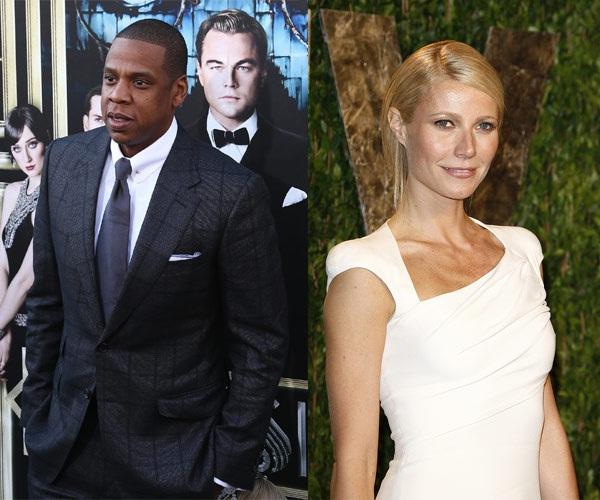 Jay Z & Gwyneth Paltrow-Unlikely Celebrity Friends