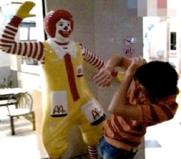 Clown Beating-Strange People At McDonalds