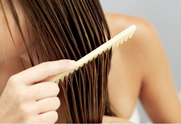 Wet hair-Natural Ways To Stop Hair Loss