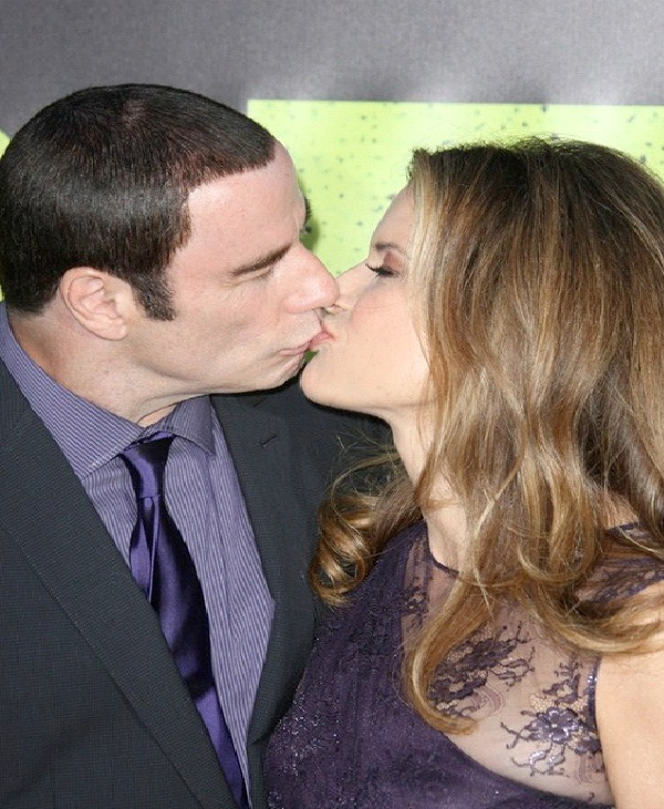 John Travolta/ Kelly Preston-Most Awkward Celebrity Kisses
