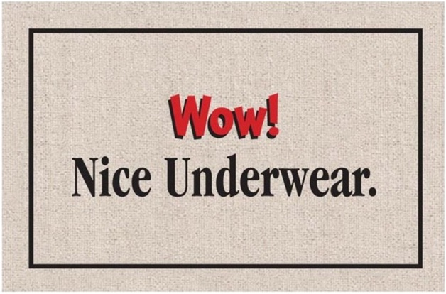 Nice Underwear-12 Creative And Funny Doormats Ever