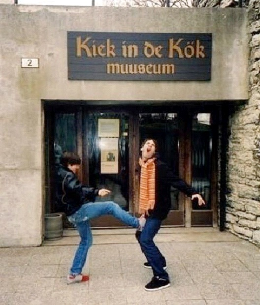 Kick In The Kok-People Caught Having Fun At The Museum