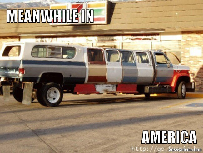 A Different Stretch Limo-Best Meanwhile In America Memes