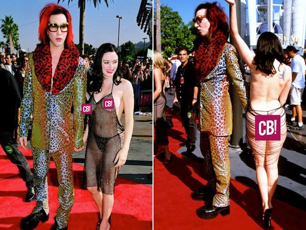 Rose McGowan Lack of Gown-Disgusting VMA Photos Ever