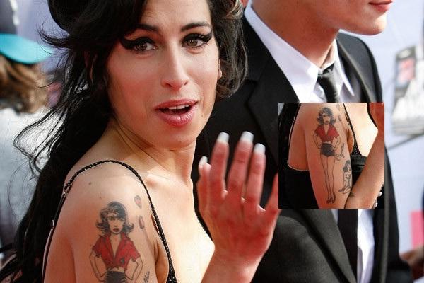 Amy Winehouse-Best Celebrity Tattoos