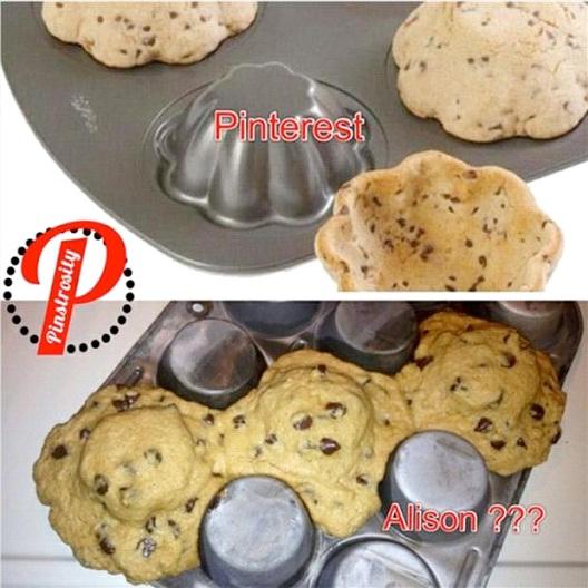 Cookie Cup Fail-Hilarious Pinterest Fails