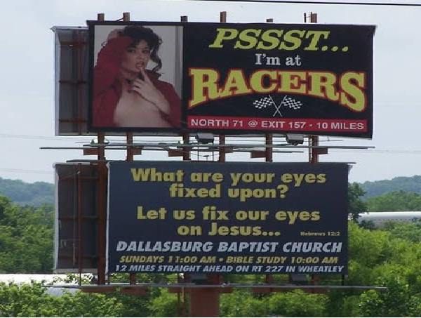 Sin & repent-Unexpectedly Hijacked Billboards