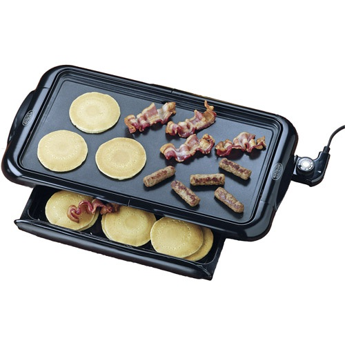 Griddle with warming tray-Inventions That Make Breakfast Fun