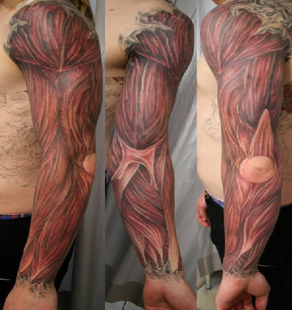 Muscle Man-Wackiest Anatomical Tattoos